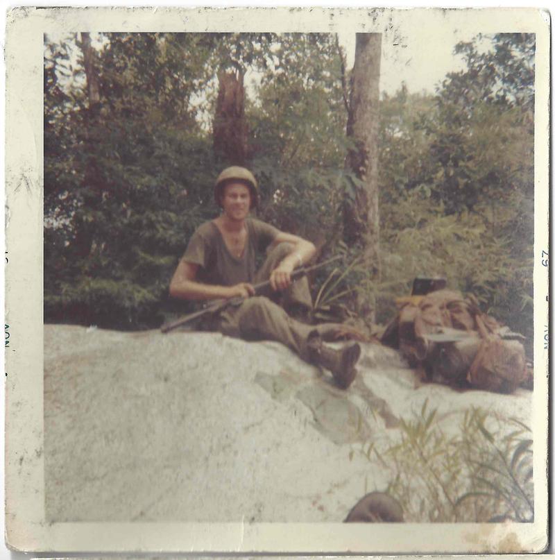 "Tim ""Naneek"" Keenan during the Vietnam War, which eventually lead him to his PTSD."