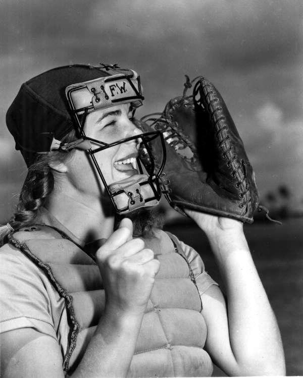 Dottie Schroeder (catcher) was the AAGPBL's youngest player at age fifteen and was the only team member to play all twelve seasons.