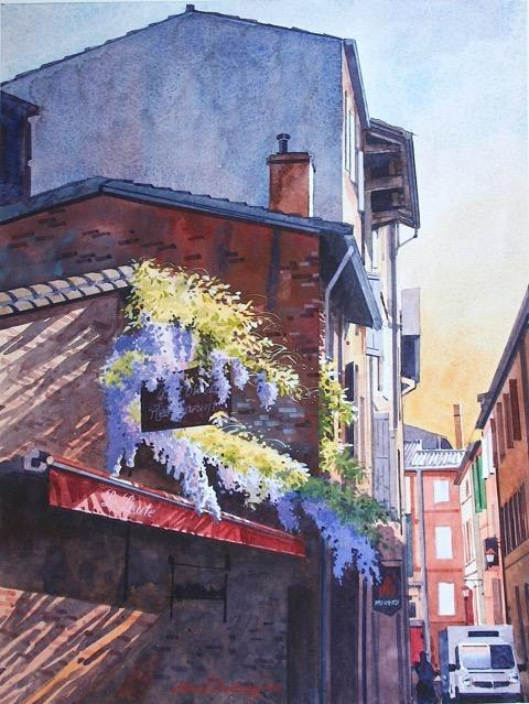 """France"" watercolor by David Belling"