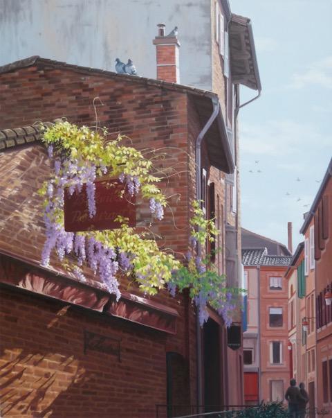 """""""Le Lautrec, Albi, France"""" oil painting by Liz Phillips"""