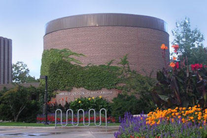This month's chat with Jean Creighton took place here at the UWM Manfred Olson Planetarium.