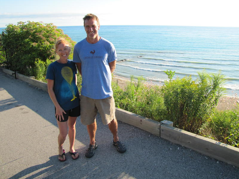 Tammy Bockhorst and Eric Gietzen at Atwater Beach.
