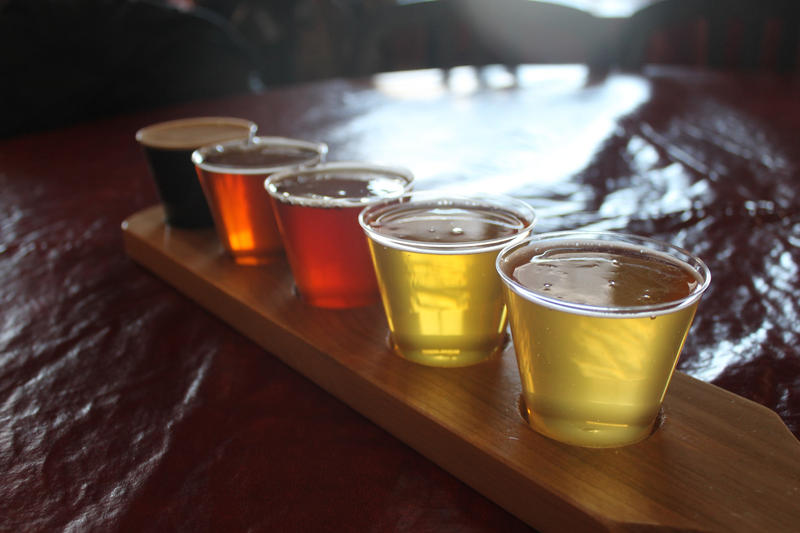 Milwaukee is home to many breweries that offer a wide variety of beer, such as this sampler flight at Lakefront Brewery.