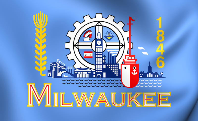 Milwaukee's official flag was adopted in 1955.