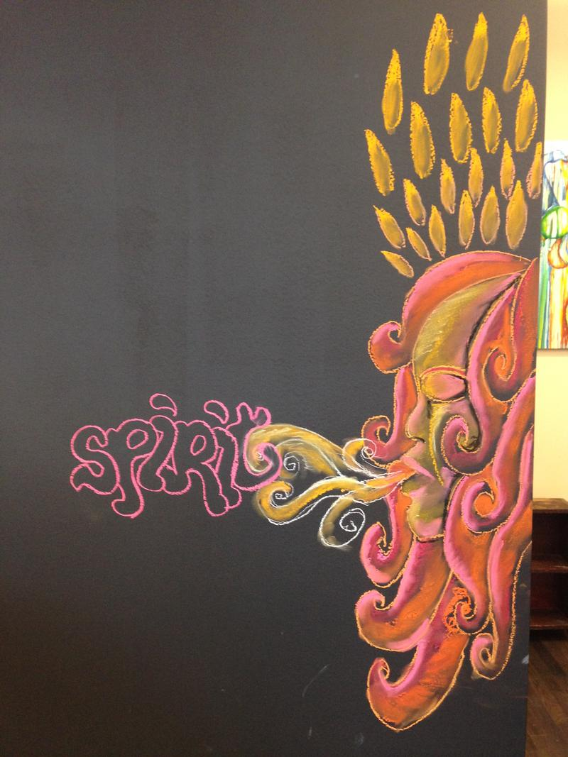 Chalk drawing at the Juice Kitchen