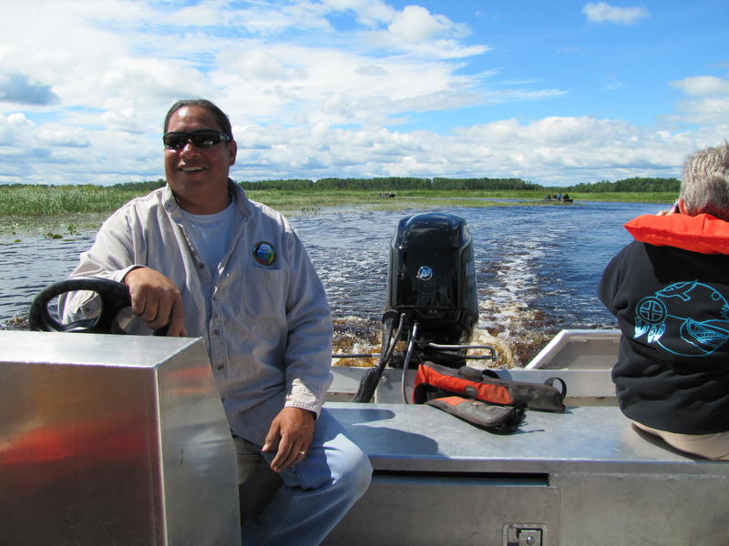 Bad River Tribe fisheries technician Ed Leoso has fished and riced here since he was a boy.