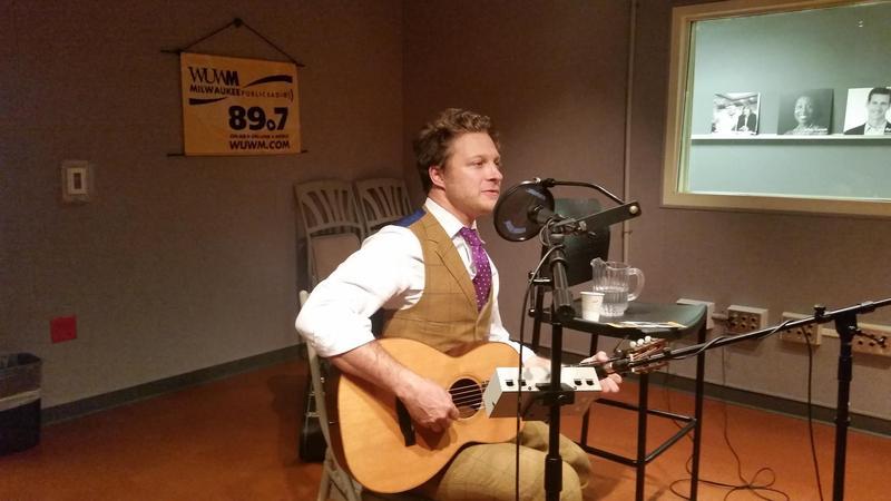 Benjamin Scheuer performs in Lake Effect's Studio.