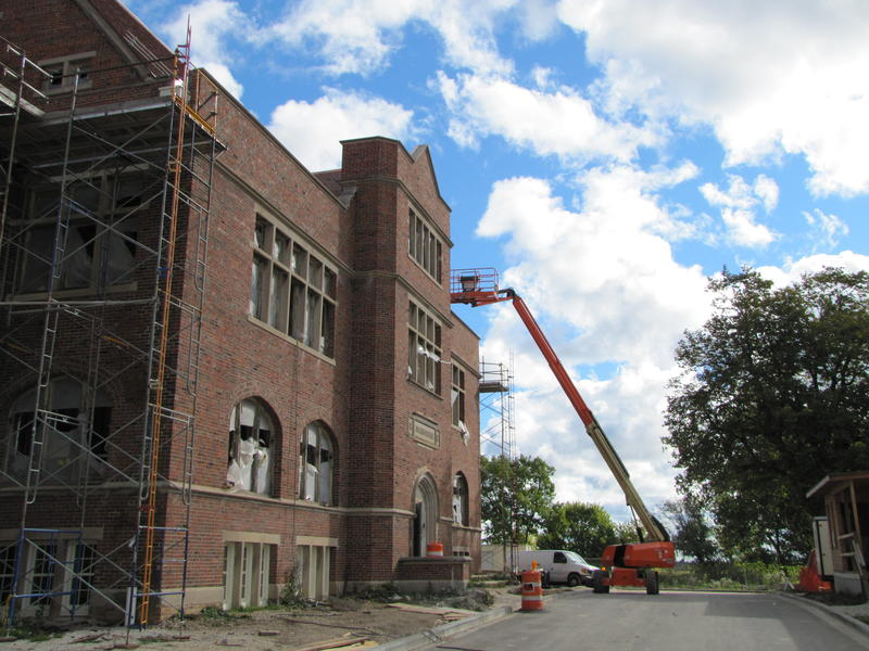 Administration building under renovation.