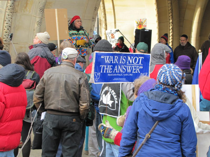 Activitists gathered in cities around the globe over the weekend, including Milwaukee, in advance of the UN conference in Paris.