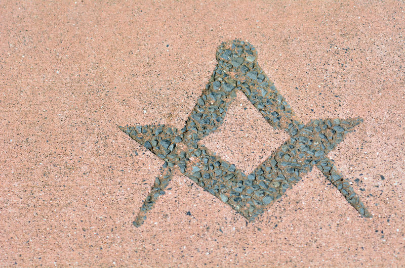 The Masonic symbols such as the square and compass (pictured above) attaches a moral lesson to the manual tools of stonemasons.