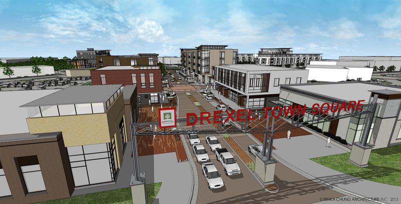 Rendering of Drexel Town Square in Oak Creek.