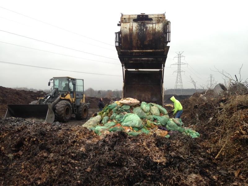 Wednesdays and Sundays, Compost Crusader delivers loads to Jutrzonka's operation in Caledonia.