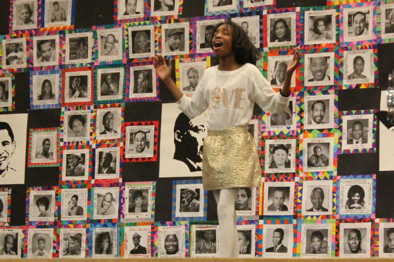 "A student channels her inner Jennifer Hudson as she sings the actress' solo from the 2006 movie, ""Dreamgirls."""