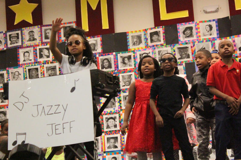 """DJ Jazzy Jeff"" makes an appearance at Milwaukee College Prep during the fourth grade class' tribute to actor Will Smith."