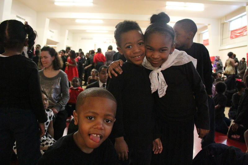 36th Street students pose after their performances Thursday.