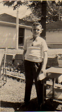 A 5 year-old Lance in his childhood home back yard in Milwaukee.