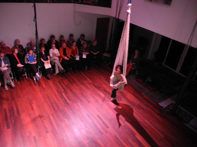 Andrea Burkholder performing 'Bayou's State.'
