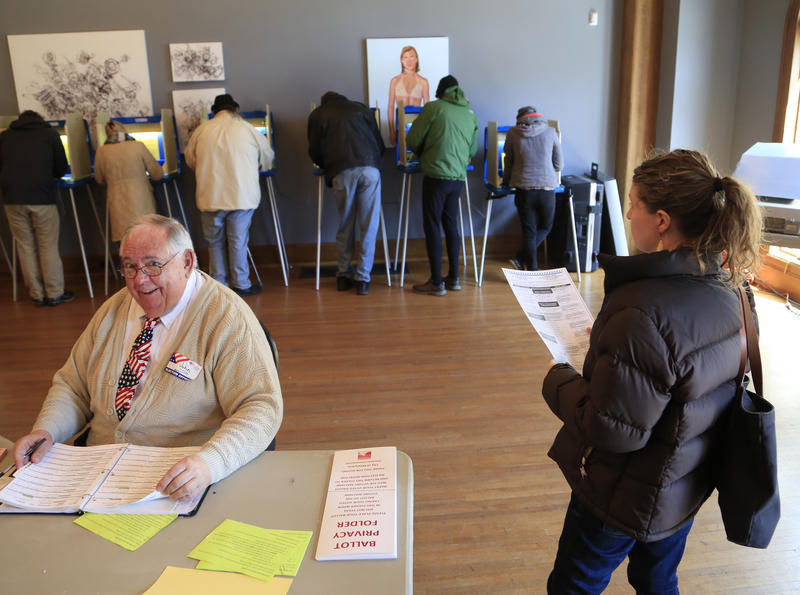 Voters take to the polls at Charles Allis Art Museum April 5, 2016 in Milwaukee, Wisconsin.