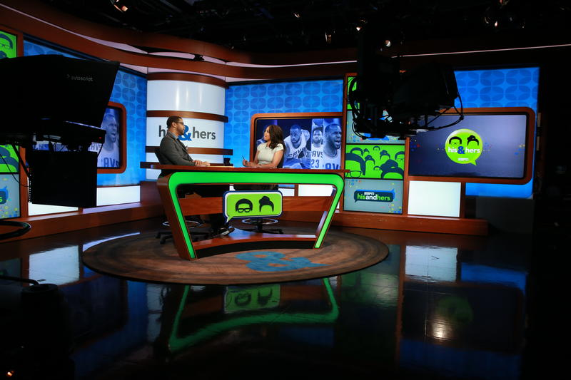 Studio N: Michael Smith and Jemele Hill on the set of His & Hers.