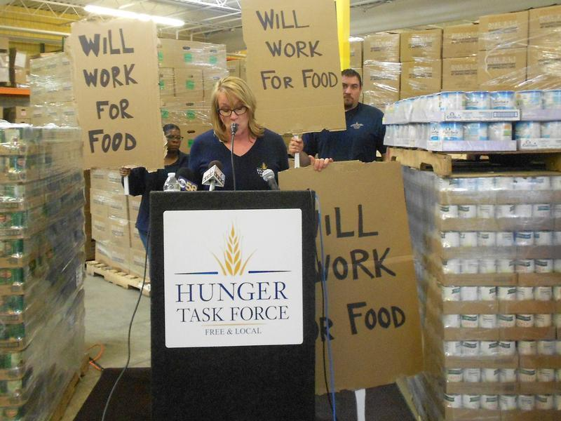 Sherrie Tussler says tens of thousands of people have lost FoodShare benefits under the new guidelines