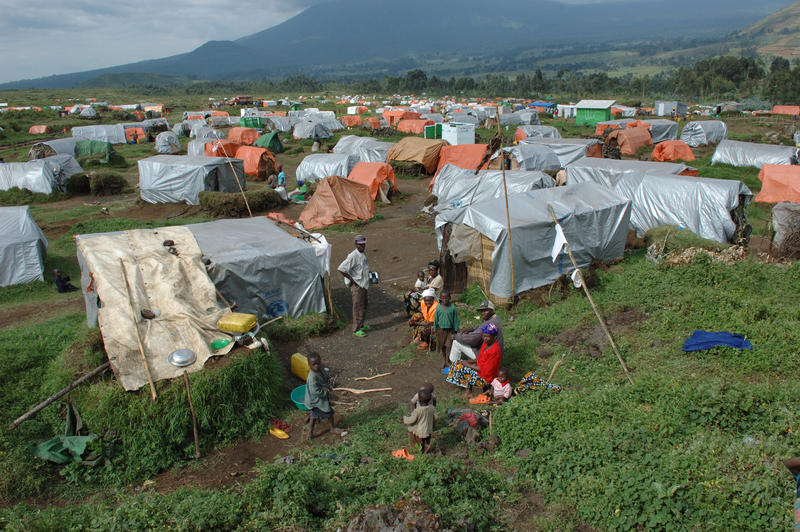 Kibumba, a refugee camp in the Democratic Republic of the Congo, close to the border with Rwanda.