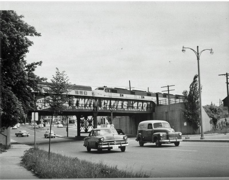 The Twin Cities 400, racing through Shorewood over Capitol Drive. That bridge is now part of Oak Leaf Trail.