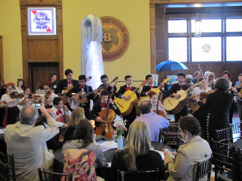 Latino Arts Strings serenaded 300 people at Milwaukee Water Commons confluence gathering Thursday.