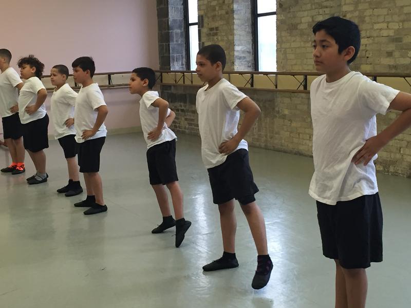 Allen-Field 4th grade boys dance in Relevè class.