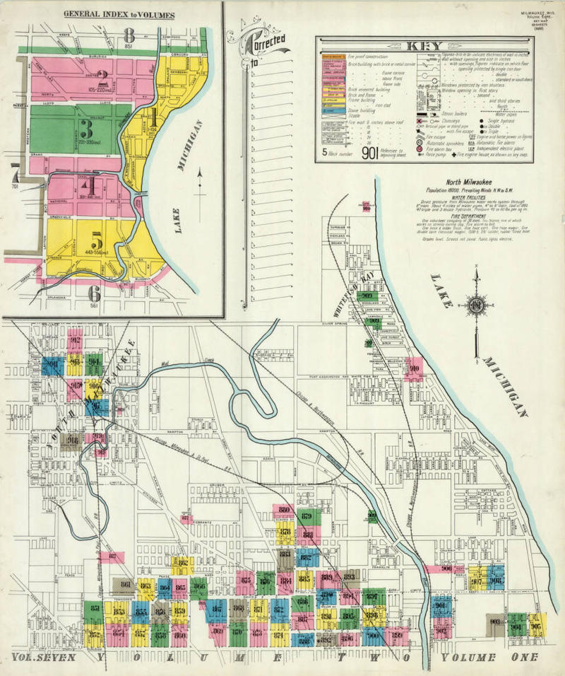 1910 Sanborn Map of Whitefish Bay from UW-Milwaukee's digital collection