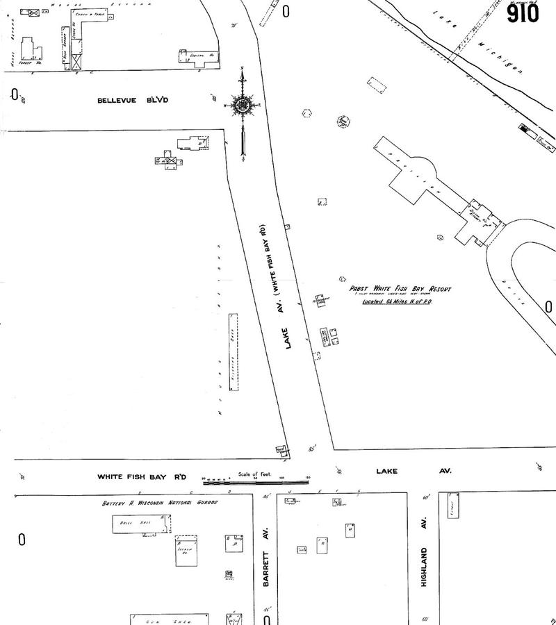 Layout of the Whitefish Bay Resorts