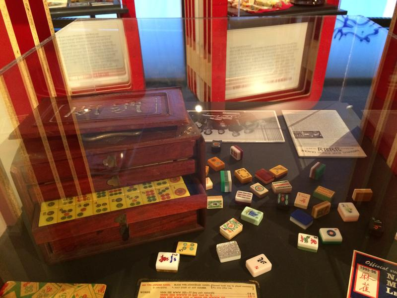 """Artifacts featured at the """"Project Mah Jongg"""" exhibit at the Jewish Museum Milwaukee."""