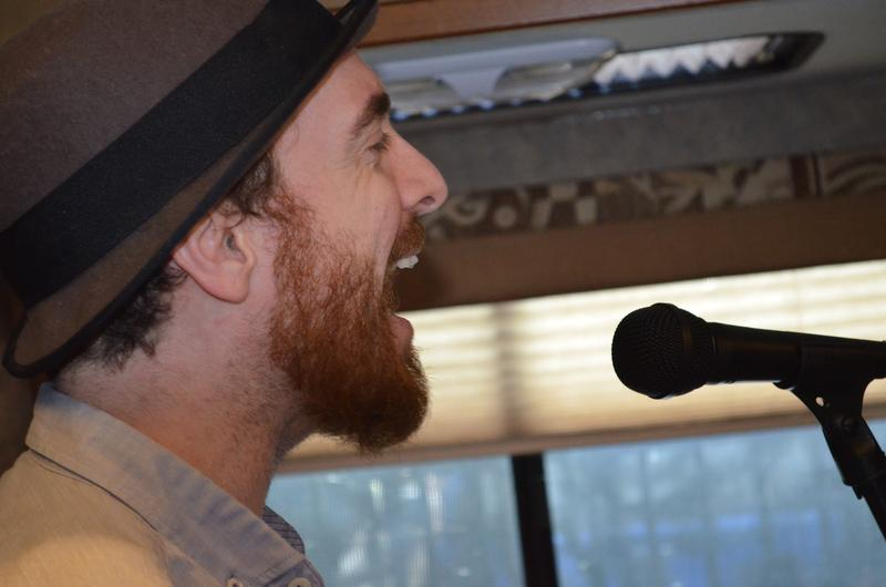 Air Traffic Controller performing in the Sing Me a Story RV.