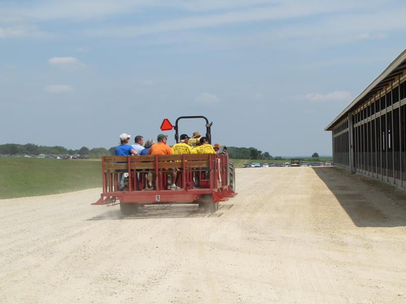 A steady stream of tours perused the large dairy operation.