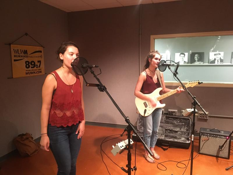 Lily & Madeleine in the Lake Effect performance studio.
