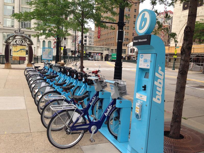 Bublr bikes use IOT technology.