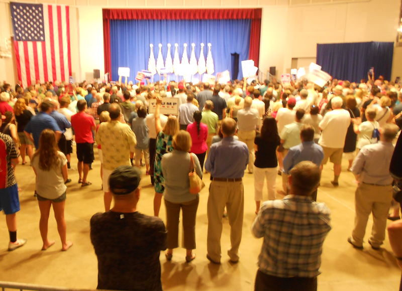 Mike Pence held a rally at the Waukesha Expo Center