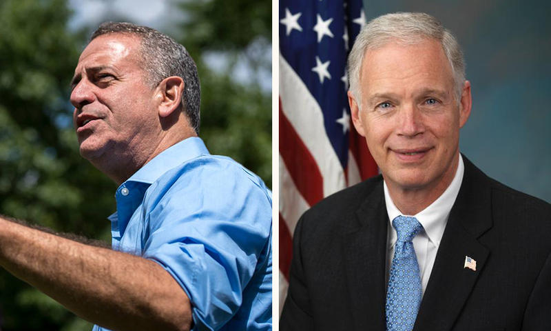 Former Democratic Sen. Russ Feingold (left) hopes to challenge incumbent Ron Johnson (right) this fall.