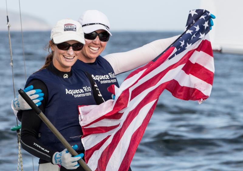 Annie Haeger (left) & Briana Provancha, Women's 470, US Sailing Team Sperry
