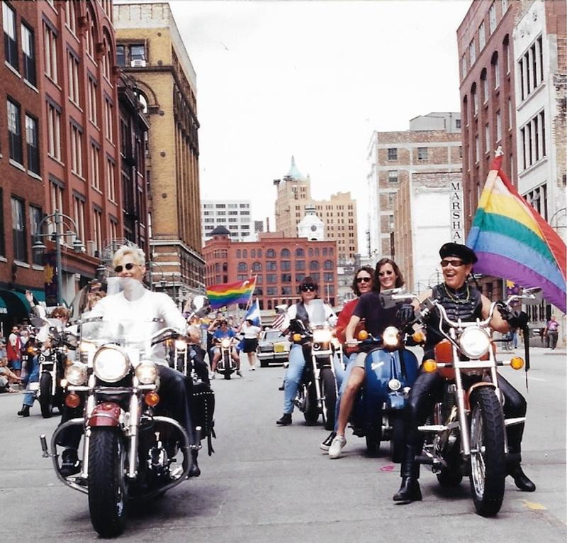 When PrideFest moved in 1996, the Wisconsin Pride Parade extended through the Historic Third Ward to the festival's front gates.