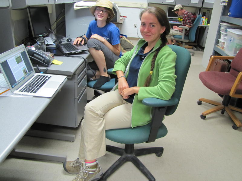 Interns Hannah Tuomi & Katelyn Roling