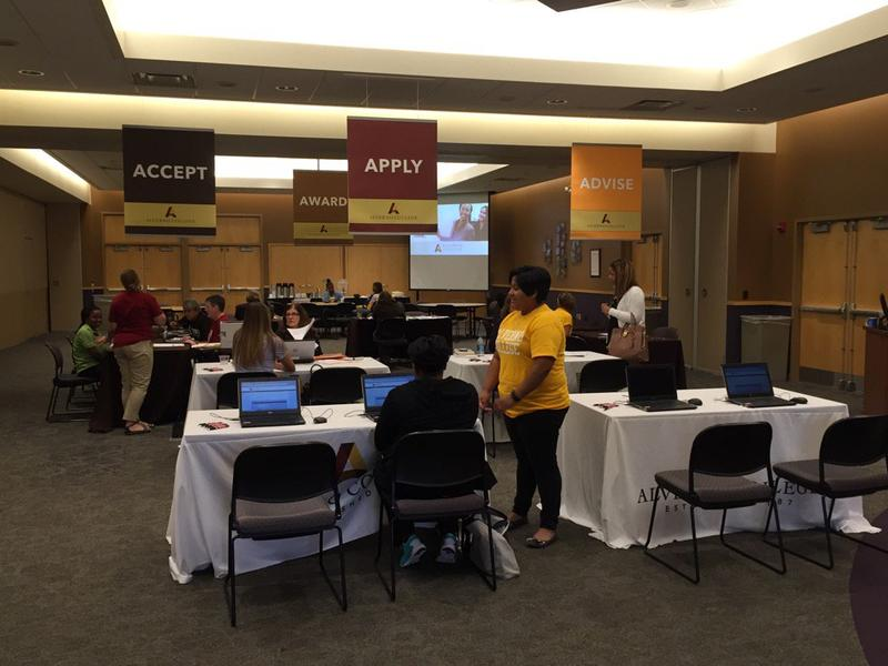 """Alverno College's """"Fast Track Days"""" offer students the opportunity to apply and enroll using four easy stations."""