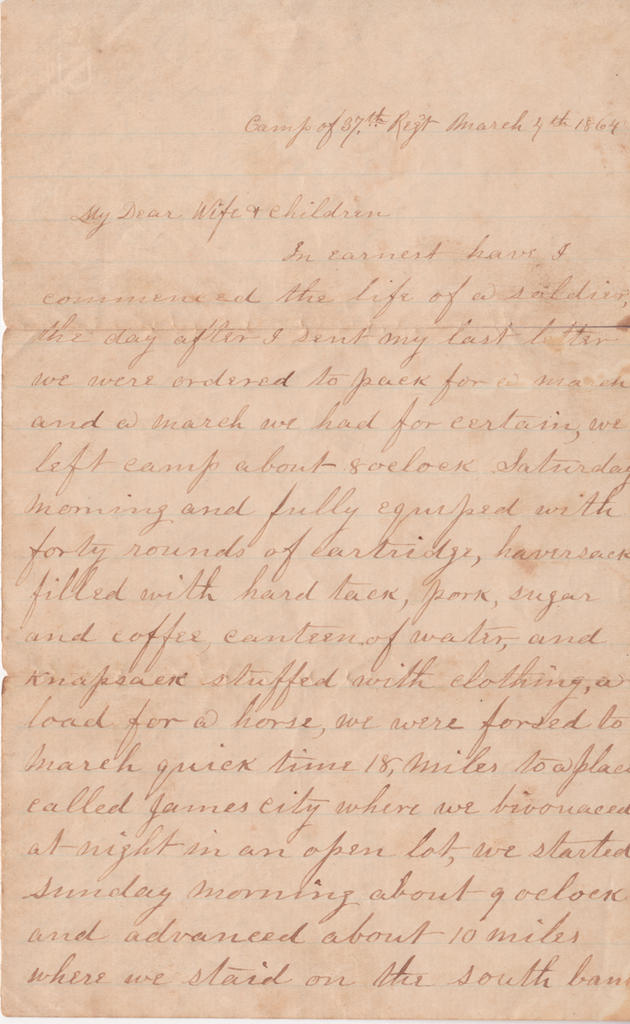 One of Florence Burke's letters found by Ellen Alden.