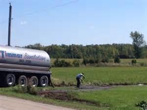 Manure spill cleanup in Kewaunee County