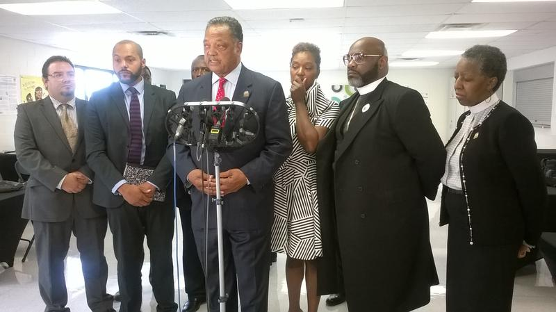 Rev. Jesse Jackson delivered the eulogy for Sylville Smith