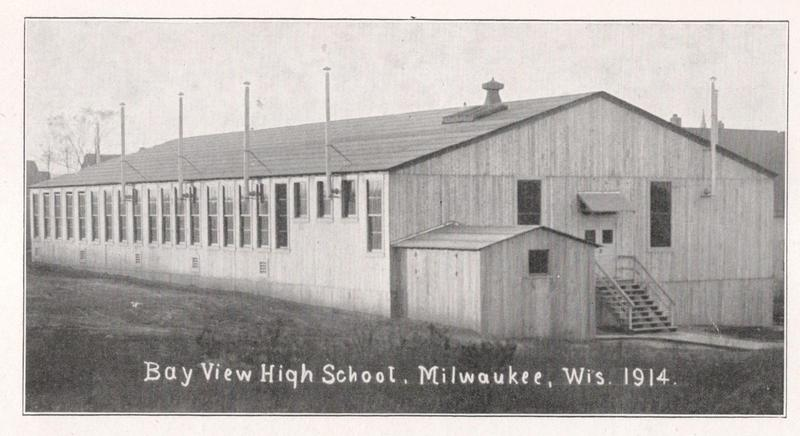 Movable barracks served as a south side school until Bay View H.S. was completed