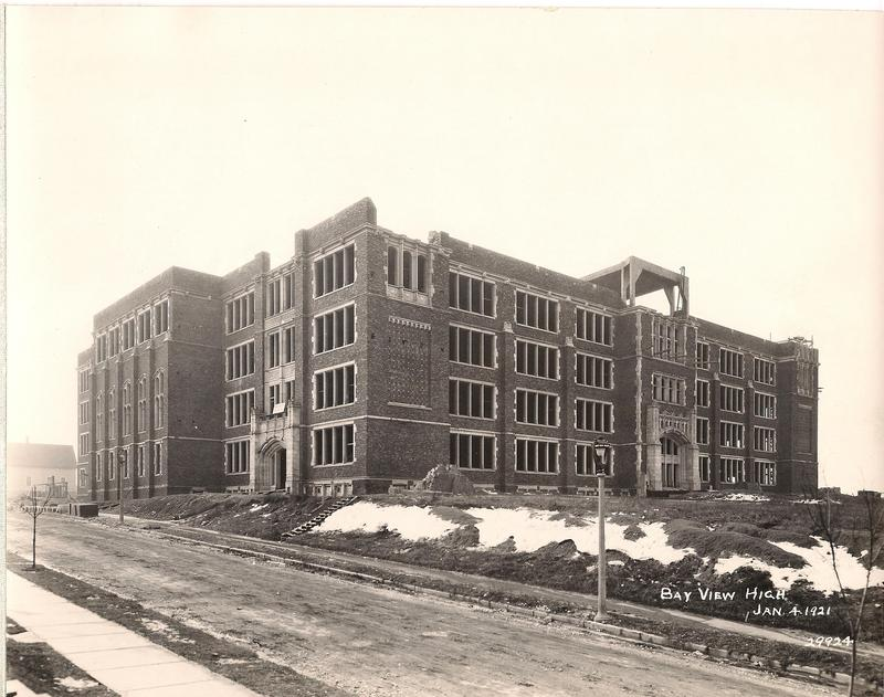 Bay View High School was almost ready for students in 1921