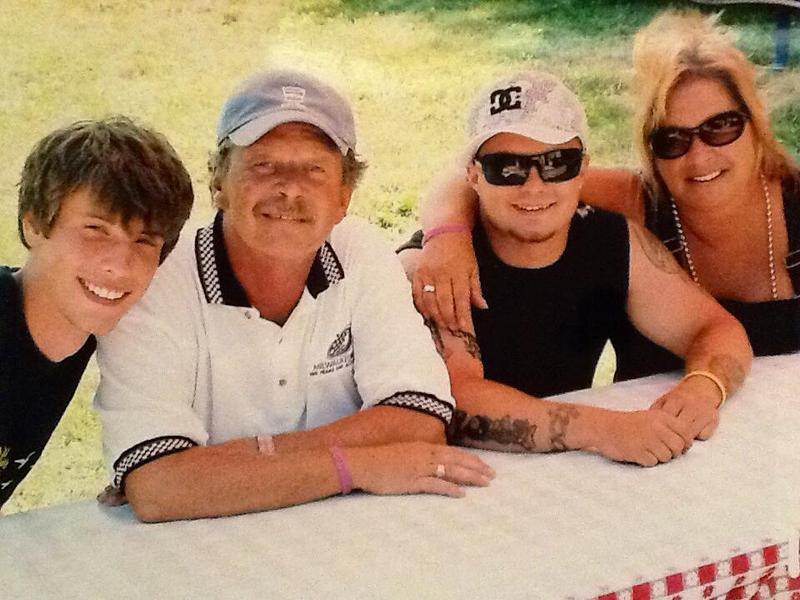 (From left to right) Christopher, Charlie, CJ and Patti Lomas. CJ died from a heroin overdose in 2012.