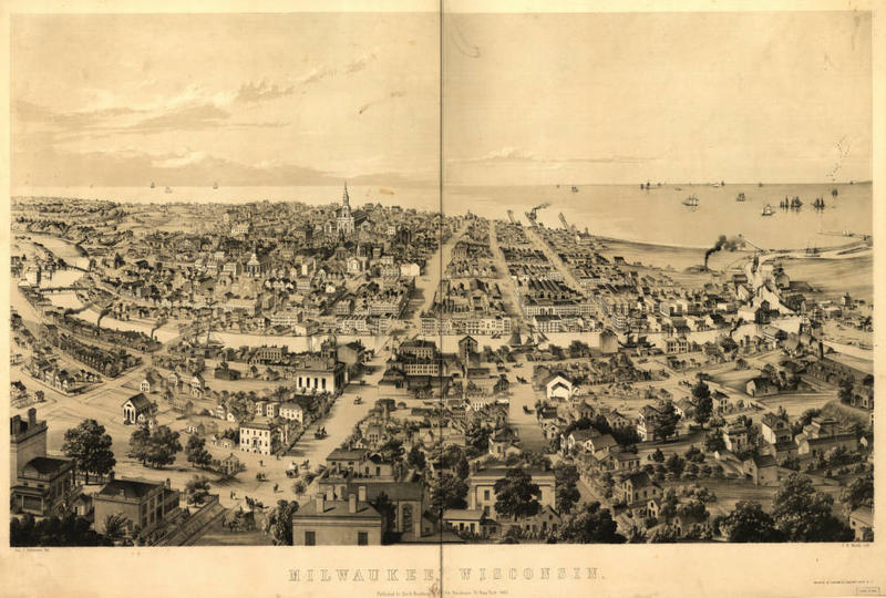 Milwaukee map from 1854.