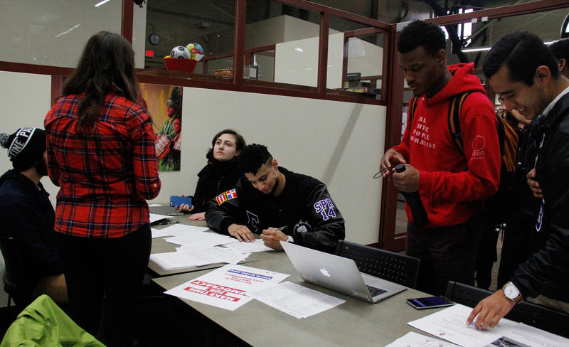 University of Wisconsin-Madison students register to vote on Oct. 12, 2016 at the UW-Madison's Multicultural Student Center. The registration drive was part of the Black and Brown Vote event aimed at urging millennials to vote in November.
