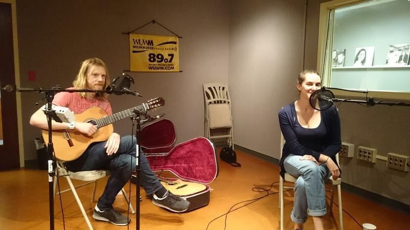UK folk duo Josienne Clarke and Ben Walker played in the Lake Effect performance studio.
